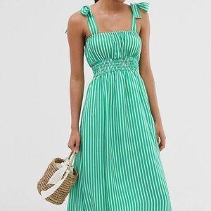 Seersucker maxi dress NW